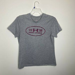Under Armour Womens L Grey/Pink Short Sleeve Shirt
